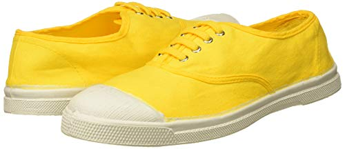 Baskets Bensimon en toile jaune citron