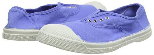 Baskets Bensimon en toile bleue sans lacet