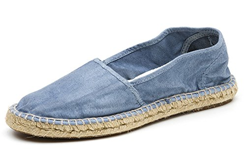Espadrille Vegan en toile de coton bio Natural World bleue