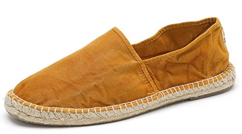 Espadrille Vegan en toile de coton bio Natural World marron camel