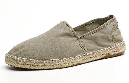 Espadrille Vegan en toile de coton bio Natural World vert kaki