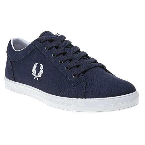 Baskets en toile marine Fred Perry