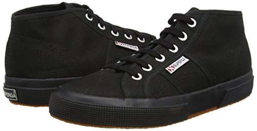 Baskets en toile noires montantes Superga
